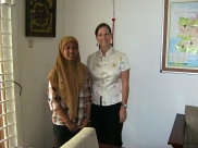 Wilda with Peace Corps Country Director, Sheila Crowley.