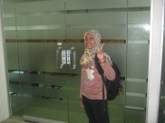 Wilda right before taking the TOEFL.